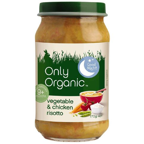 Only Organic Vegetable & Chicken Risotto 170g