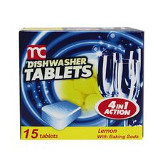 Maxclean Auto Dishwasher Tablets Lemon 15 Pack