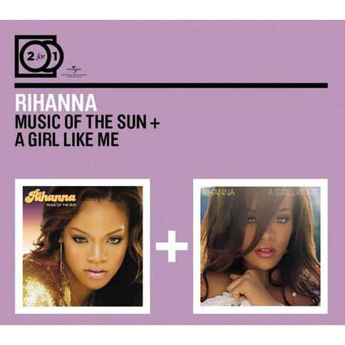 2for1 Music of The Sun/A Girl Like Me CD by Rihanna 2Disc