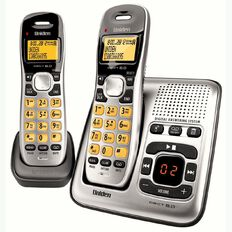 Uniden DECT 1735+1 Twin Cordless Phone with Answer Machine Silver