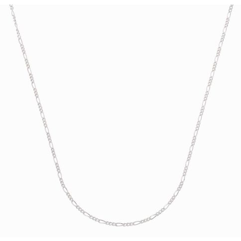 Sterling Silver 50 Gauge Figaro Chain 55cm