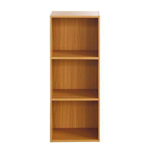 Necessities Brand Mini Bookcase 3 Tier Beech