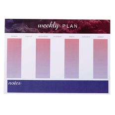 Deskwise Weekly Planner Fashion A4