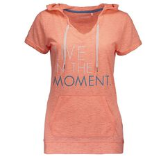 Active Intent Women's Burnout Printed Hooded Tee