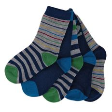 Hippo + Friends Boys' Crew Socks 5 Pack