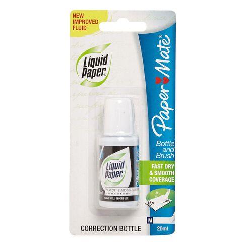 Paper Mate Liquid Paper Bottle & Brush 20ML 1 Pack