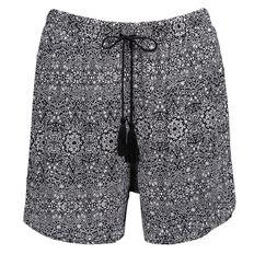 Maya Printed Tassel Shorts