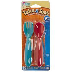 Take & Toss Toddler Flatware 6 Forks 6 Spoons
