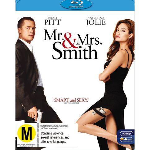 Mr and Mrs Smith Blu-ray 1Disc