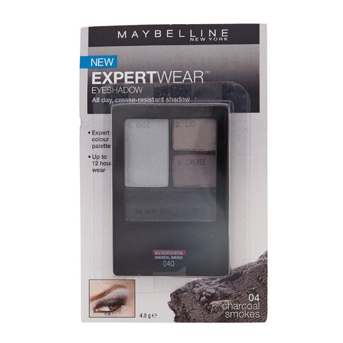 Maybelline Expert Wear Eyeshadow Quad Charcoal Smokes