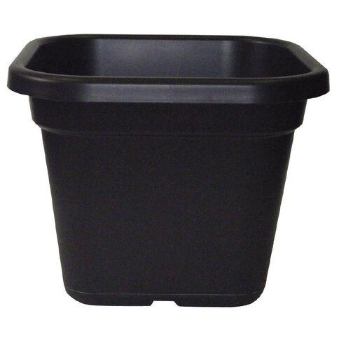 Interworld Square Recycled Resin Planter Pot Black 33L