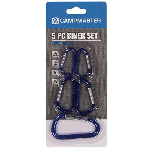 Campmaster Accessories Aluminium Biner Spring Hooks Mixed Pack