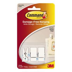 Command Quartz Spring Clips 3 Pack