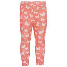 Hippo + Friends Toddler Girl Printed Bow Leggings