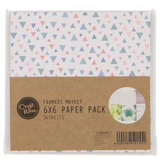 Craftwise Farmers Market Paper Pack 6in x 6in 36 Sheets