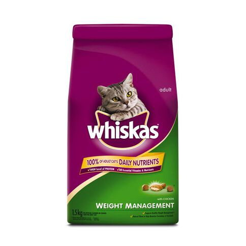 Whiskas Adult Cat Weight Management 1.5kg