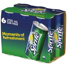 Sprite Fridgemate Multipack Cans 6 Pack 250ml