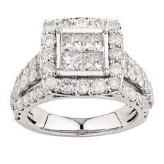 4 Carat of Diamonds 18ct Gold Ring