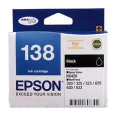 Epson Ink Cartridge High Capacity T138192 138 Black
