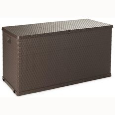 Cushion Box Rattan Brown