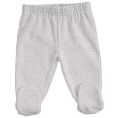 Hippo + Friends Baby Boy Footed Fleece Pants