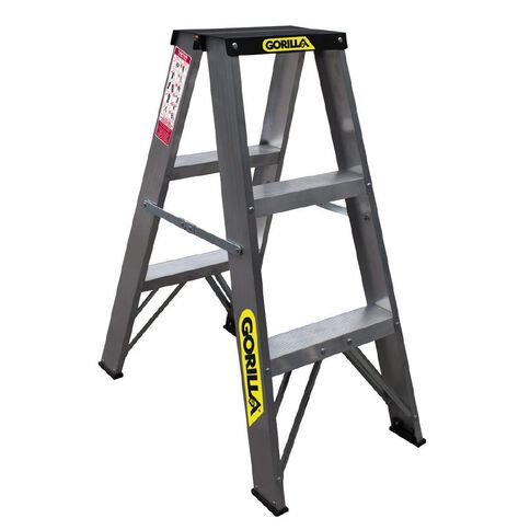 Gorilla Double Sided Aluminium Ladder 3 Step