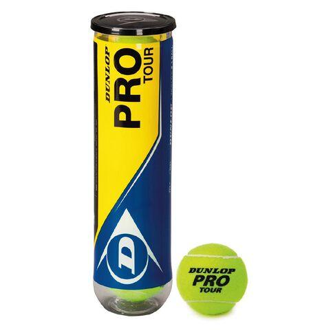 Dunlop Pro Tour Tennis Balls 4 Pack