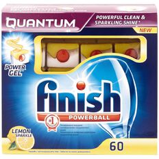 Finish Auto Dishwasher Tabs Quantum Max Lemon 60 Pack
