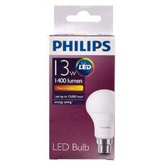 Philips LED Bulb 13-90W B22 3000K 230V A60 AU/PF Warm White