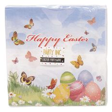 Party Inc Easter Napkin 2-Ply 33cm x 33cm 12 Pack