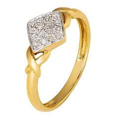 9ct Gold Diamond Fancy Dress Ring