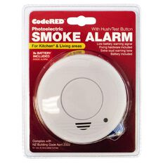CodeRED Photoelectric Kitchen/Living Area Smoke Alarm with Hush