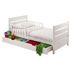 Mother's Choice Toddler Bed with Drawer White