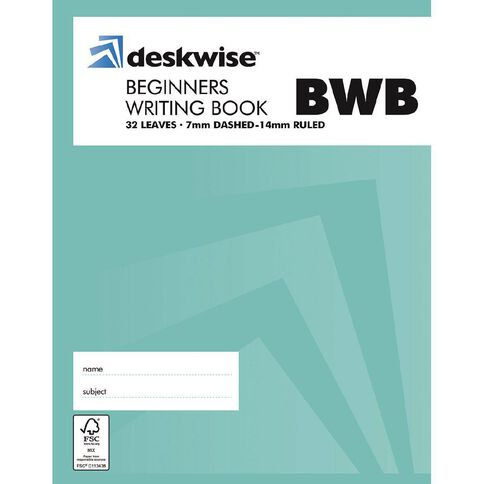 Deskwise Exercise Book 7mm Dotted Beginners Writing Book 32 Leaves