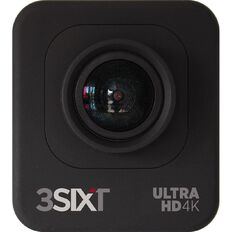 3-SIXT Ultra HD Wi-Fi Sports Action Camera 4K Black