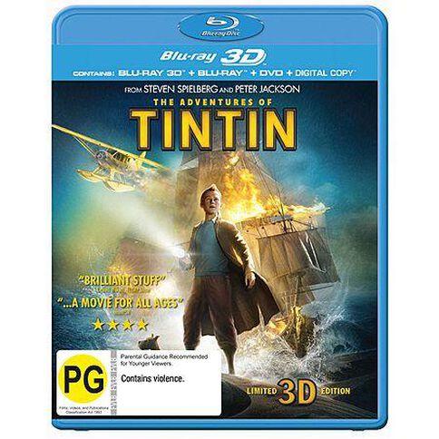 The Adventures of TinTin 3D Blu-ray + Blu-ray 2Discs