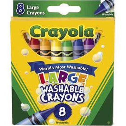 Crayola Washable Crayons Large 8 Pack