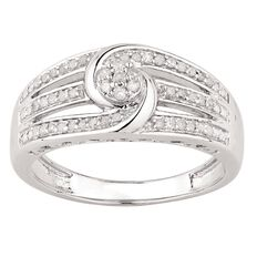 1/4 Carat of Diamonds Sterling Silver Twister Ring