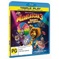 Madagascar 3 Europes Most Wanted Blu-ray/DVD 2Disc