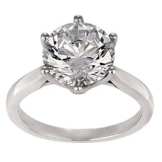 Brilliance 3 Carat of Solitaire CZ Sterling Silver Ring