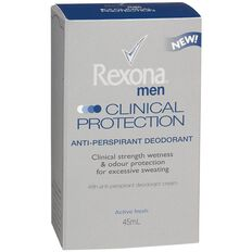 Rexona For Men Antiperspirant Deodorant Cream Clinical Protection 45ml