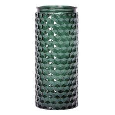 Living & Co Emerald City Diamond Embossed Vase 11cm x 25cm