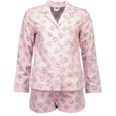 H&H Women's Flannelette Shortie Pyjamas