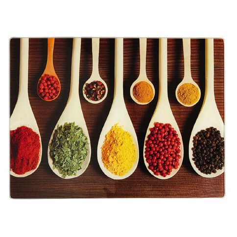 Living & Co Chopping Board Glass Spices Design
