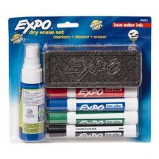 Expo Whiteboard Marker Low Odour Chisel Starter Set