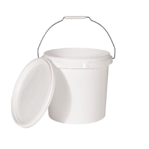 Pail with Lid White 10L