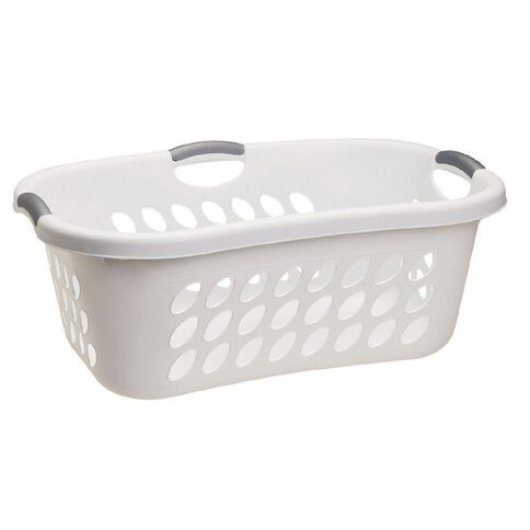 Sterilite Hip Hold Laundry Basket White