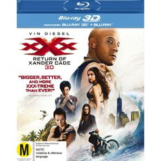 XXX 3 The Return Of Xander Cage 3D Blu-ray 2Disc
