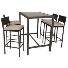 Reside Santorini Wicker Bar Set 5 Piece