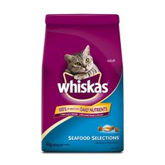 Whiskas Seafood Selections Salmon & Shrimp Flavour Dry Cat Food 4kg